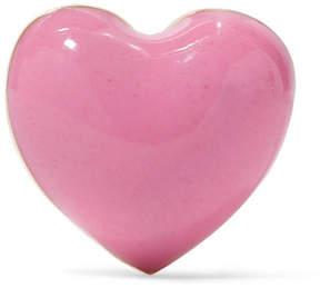 Alison Lou Pink Heart Enameled 14-karat Gold Earring