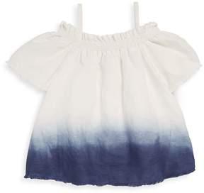 Joe's Jeans Girl's Dip Dye Woven Linen Blouse