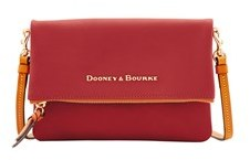 Dooney & Bourke City Foldover Zip Crossbody Shoulder Bag. - PERSIMMON - STYLE
