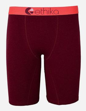 Ethika Infrared Wine Staple Boys Underwear