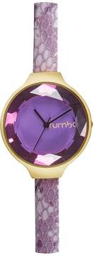RumbaTime Women's Orchard Gem Exotic Leather Amethyst Watch