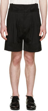 J.W.Anderson Black Pleated Wide-Leg Shorts