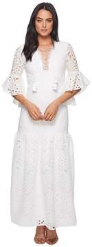 Badgley Mischka Belcanto Lace-Up Boho Dress Women's Dress
