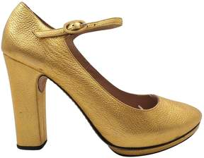Repetto Gold Leather Heels