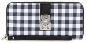 GUESS Britta Checkered Zip-Around Wallet