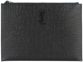 Saint Laurent Monogram zip pouch