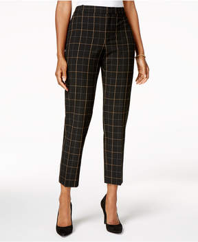 Charter Club Windowpane Plaid Ankle Pants, Created for Macy's