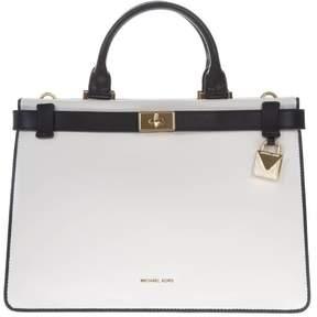 MICHAEL Michael Kors Tatiana White Leather Handbag