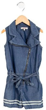Junior Gaultier Girls' Chambray Belted Romper
