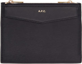 A.P.C. Navy Claudine Wallet