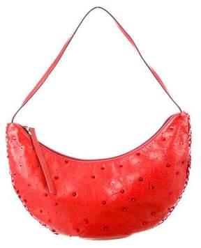 Miu Miu Leather Embellished Hobo