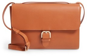 A.p.c. Katy Calfskin Leather Messenger Bag - Brown