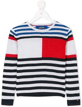 Tommy Hilfiger Junior glittery striped jumper