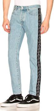 Marcelo Burlon County of Milan x Kappa Blue Antifit Jeans