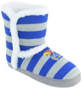 NCAA Women's Kansas Jayhawks Striped Boot Slippers