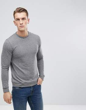 Esprit Long Sleeve Organic T-Shirt With Stripe