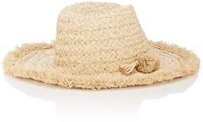 Barneys New York WOMEN'S POM-POM-DETAILED RAFFIA HAT