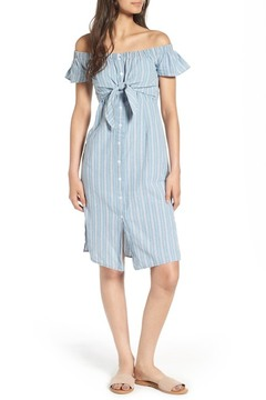 Everly Tie Waist Off the Shoulder Dress