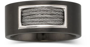 JCPenney FINE JEWELRY Men's 10mm Cable Band Stainless Steel