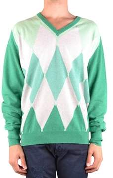 Ballantyne Men's Mcbi032072o Green Cashmere Sweater.