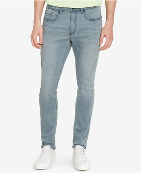 Kenneth Cole New York Men's Skinny-Fit Stretch Sulphur Blue Jeans
