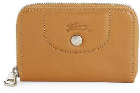 Longchamp Women's Le Pliage Cuir Leather Zip Around Wallet - RED - STYLE