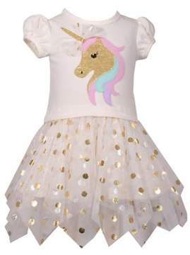 Iris & Ivy Baby Girl's Unicorn Dotted Tutu Dress