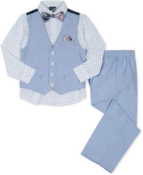 Nautica 4-Pc. Vest, Shirt, Pants & Bow Tie Set, Toddler Boys
