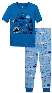 Petit Lem Shark Pajama Set (Baby Boys)