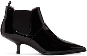 Acne Studios Black Patent Kytti Ankle Boots