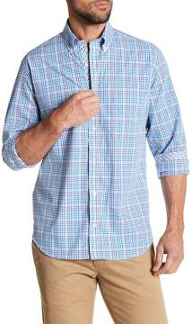Tailorbyrd Woven Long Sleeve Plaid Button Shirt