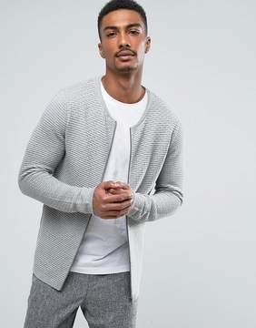 Selected Zip Through Knitted Cardigan