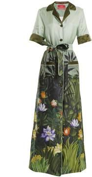 DAY Birger et Mikkelsen F.R.S - FOR RESTLESS SLEEPERS Floral-print tie-waist silk-twill shirtdress