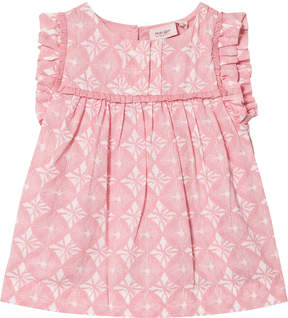 Mini A Ture Noa Noa Miniature Blush Printed Blouse with Frill Sleeves