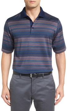 Bugatchi Mercerized Cotton Stripe Polo