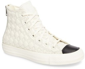 Converse Women's Quilted High Top Sneaker