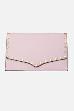 Jayden Gold Studded Envelope Clutch Bag
