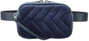 Sandro Quilted Velvet Belt Bag