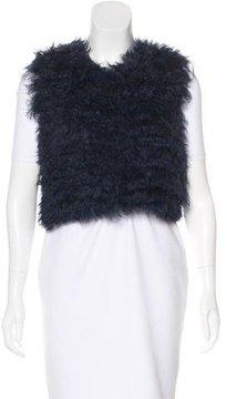 Cacharel Mongolian Fur Crop Vest w/ Tags