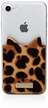 Kate Spade Leopard Print Calf Hair Adhesive Card Case - LEOPARD/GOLD - STYLE