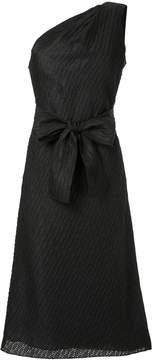 Carolina Herrera asymmetric tweed column dress
