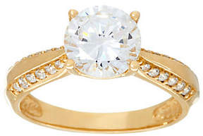 Diamonique As Is 2.00ct Solitaire Ring, 14K Gold