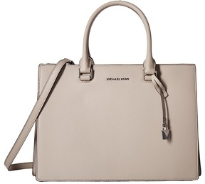 MICHAEL Michael Kors Sutton Medium Gusset Satchel Satchel Handbags - CEMENT - STYLE