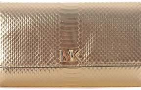 Michael Kors Mott Metallic Clutch - ORO - STYLE