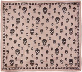 Alexander McQueen Pink Silk Skull Scarf