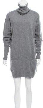Brunello Cucinelli Monili-Trimmed Sweater Dress