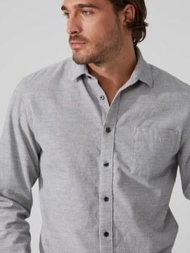 Frank and Oak Dynamic-Stretch Corduroy Shirt in Grey Heather