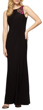 Alex Evenings Women's Embellished Sleeveless Gown