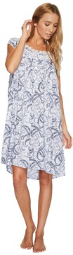 Eileen West Paisley Woven Short Nightgown Women's Pajama
