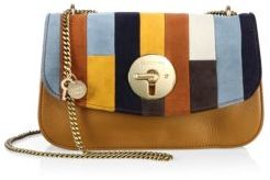 See by Chloe Lois Leather & Patchwork Suede Chain Shoulder Bag